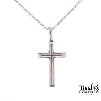 Outline Cut Out Cross Necklace