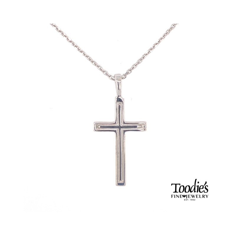 Toodie's Signature Fashion Outline Cut Out Cross Necklace