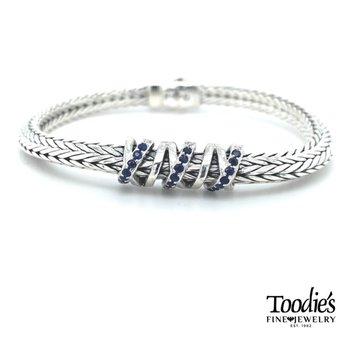 Woven Blue Sapphire Bracelet