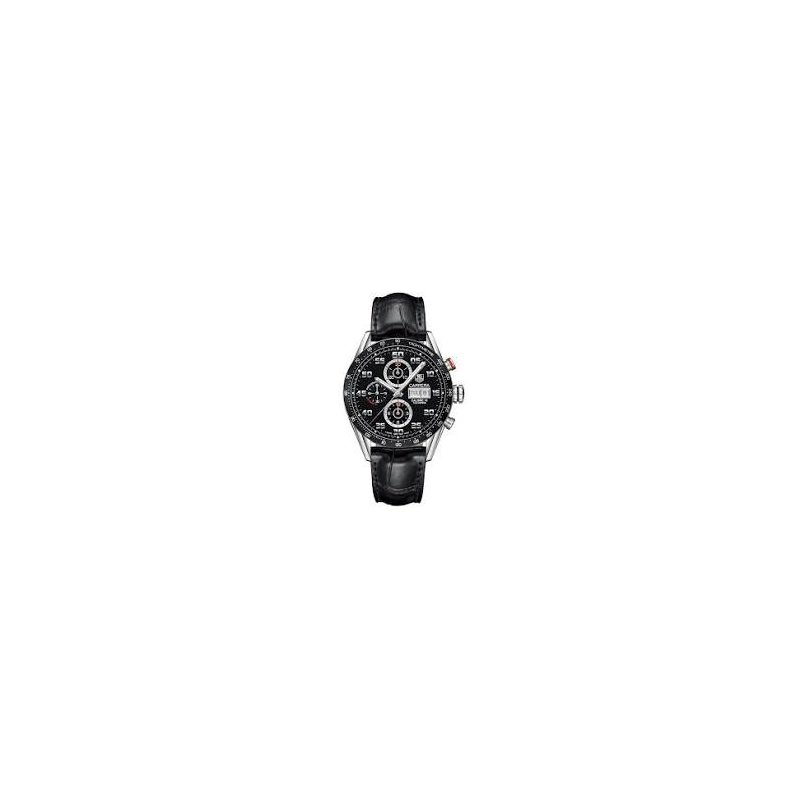 TAG Heuer Carrera Automatic Watch with Black Chronograph Dial