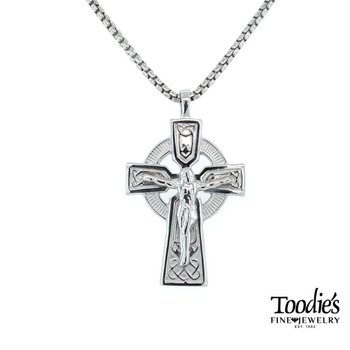 Large Celtic Crucifix Necklace
