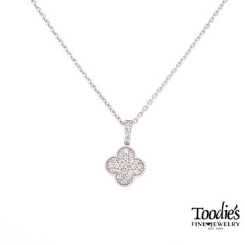 Diamond Clover Design Pendant