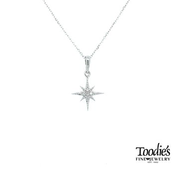Compass Rose Diamond Pendant