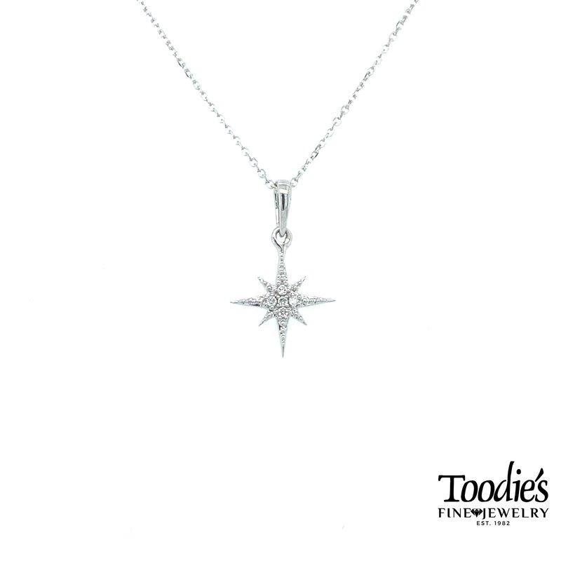 Compass Rose Diamond Pendant