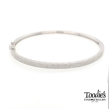 Multi Row Diamond Bangle Bracelet
