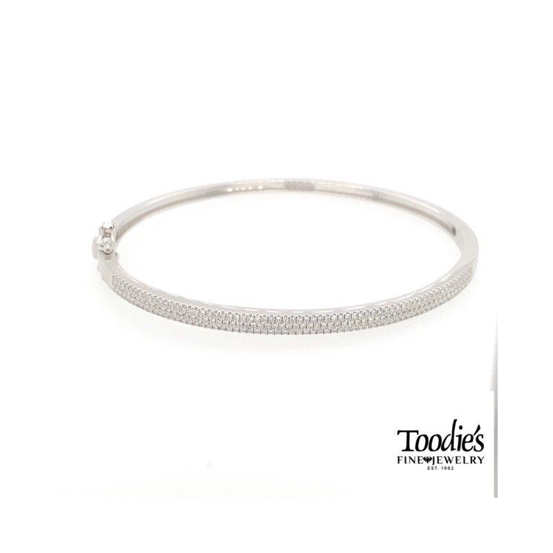 Shy Creation Multi Row Diamond Bangle Bracelet