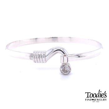 Hook and White Topaz Bracelet