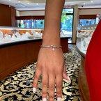 Toodie's Signature Fashion Hook and White Topaz Bracelet