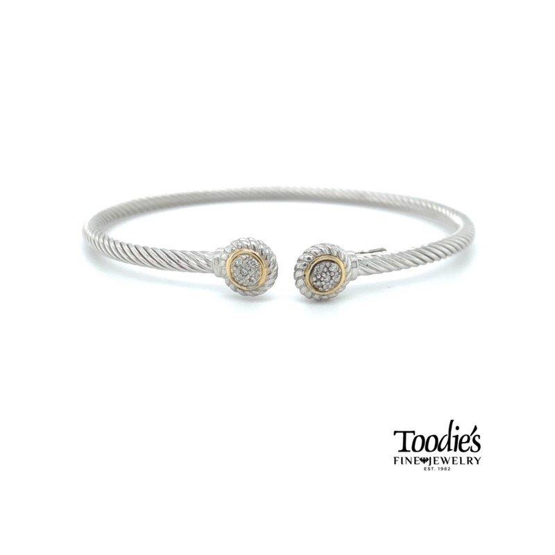 Phillip Gavriel Diamond Cuff Bracelet