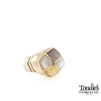Multi Color Mother Of Pearl Fashion Ring