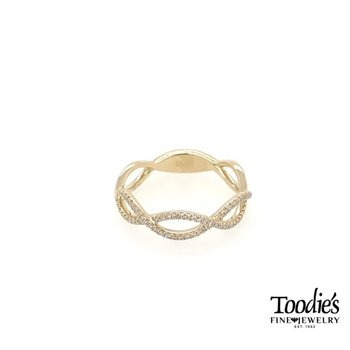 Diamond Open Twist Ring