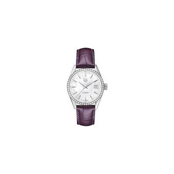 Ladies Carrera Diamond Bezel Watch with Purple Strap