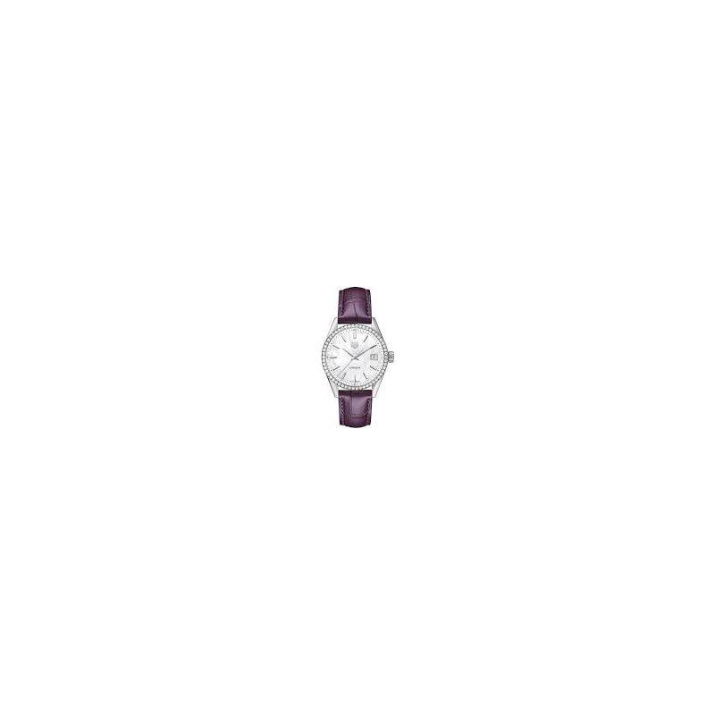 TAG Heuer Ladies Carrera Diamond Bezel Watch with Purple Strap