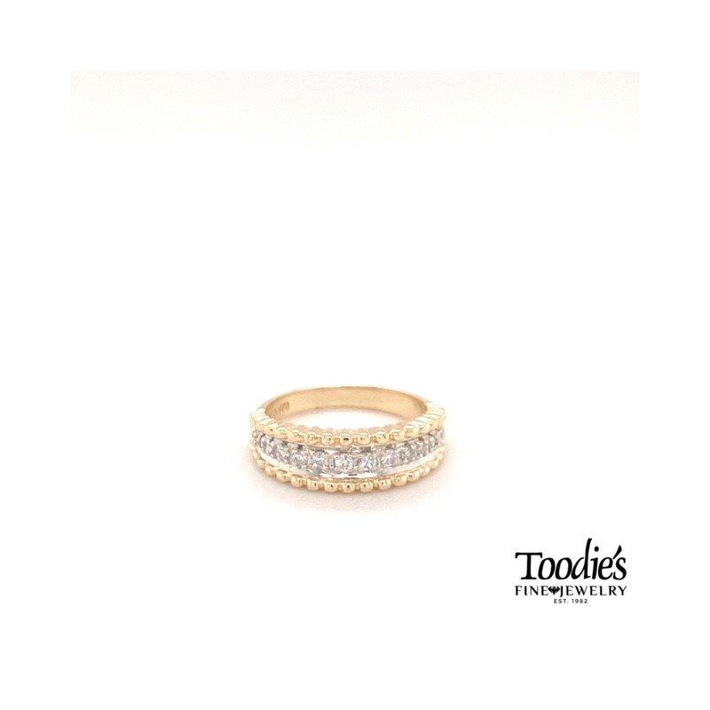 Toodie's Signature Fashion Diamond Beaded Finish Ring