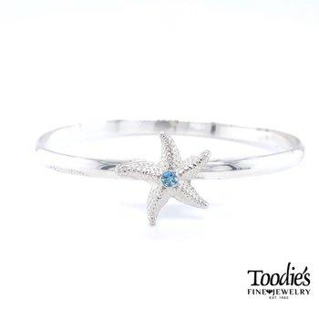 Starfish Bracelet with Blue Topaz