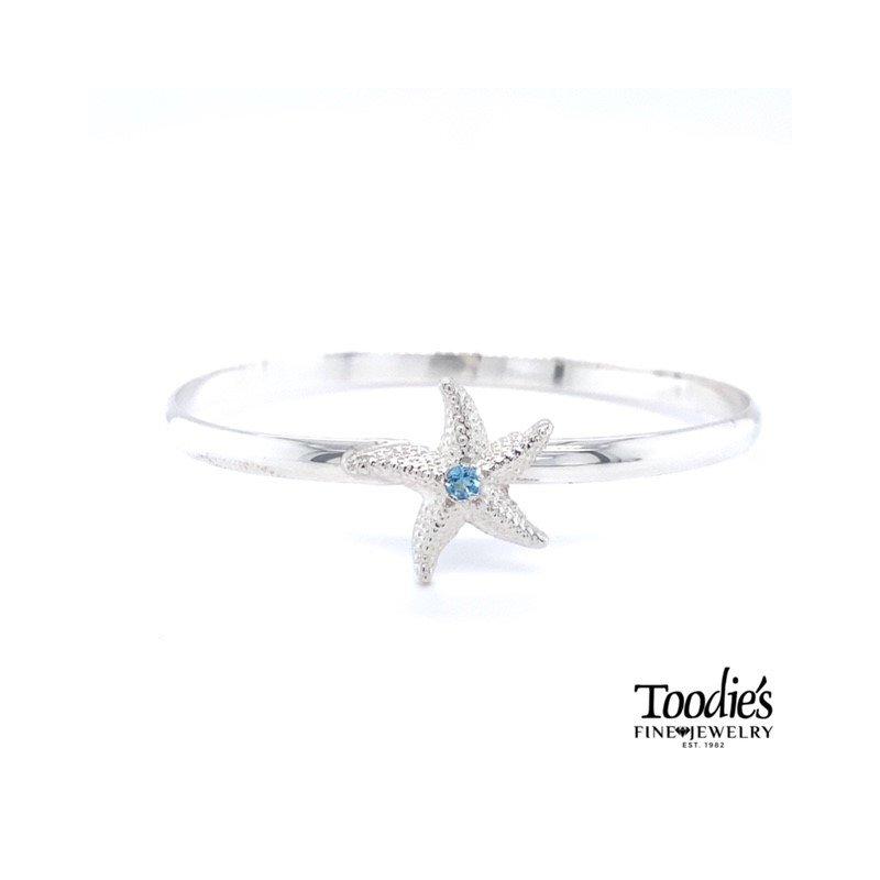 Toodie's Signature Fashion Starfish Bracelet with Blue Topaz