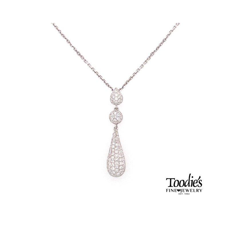 Toodie's Signature Fashion Diamond Pave' Drop Pendant