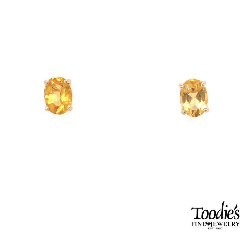 Toodie's Signature Fashion Oval Citrine Earrings