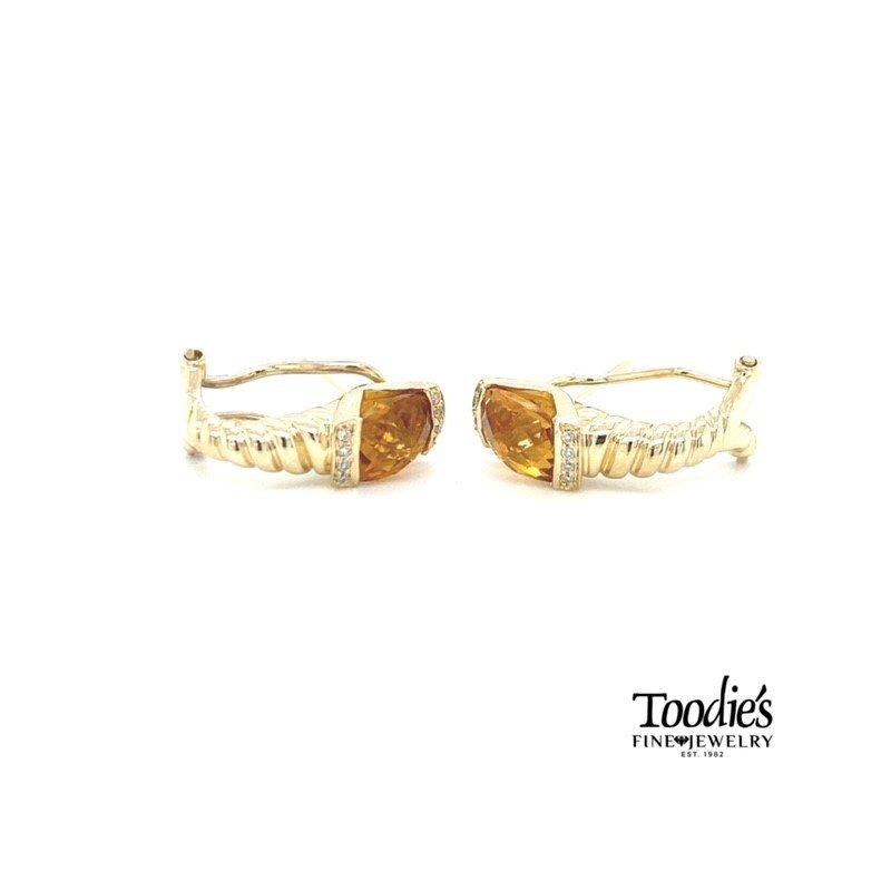 Toodie's Signature Fashion Citrene and Diamond Earrings