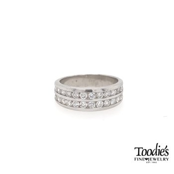 Double Row Channel Set Diamond Band