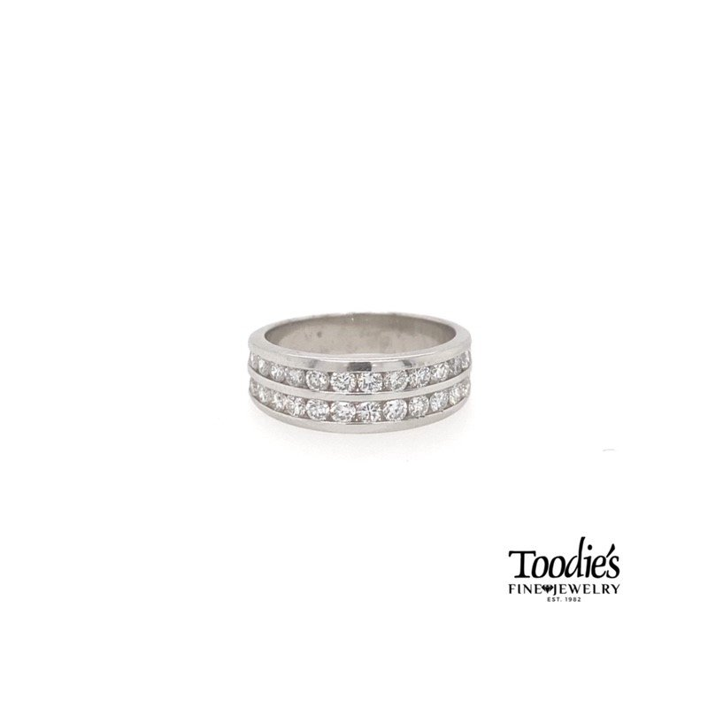 Toodie's Signature Fashion Double Row Channel Set Diamond Band
