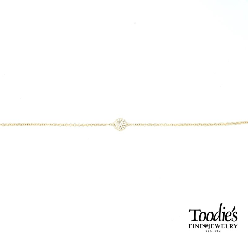 Shy Creation Pave Diamond Circle Bracelet