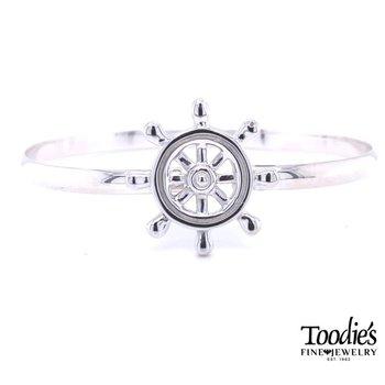 Ship's Wheel Bangle Bracelet