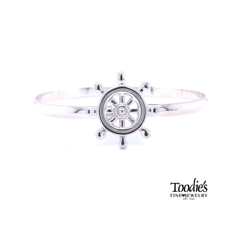 Toodie's Signature Fashion Ship's Wheel Bangle Bracelet