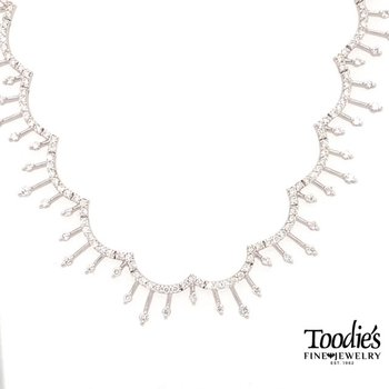 Elegant Wave Style Drop Necklace