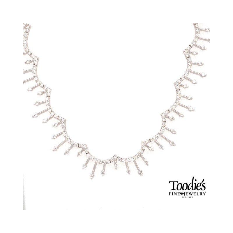 Toodie's Signature Fashion Elegant Wave Style Drop Necklace