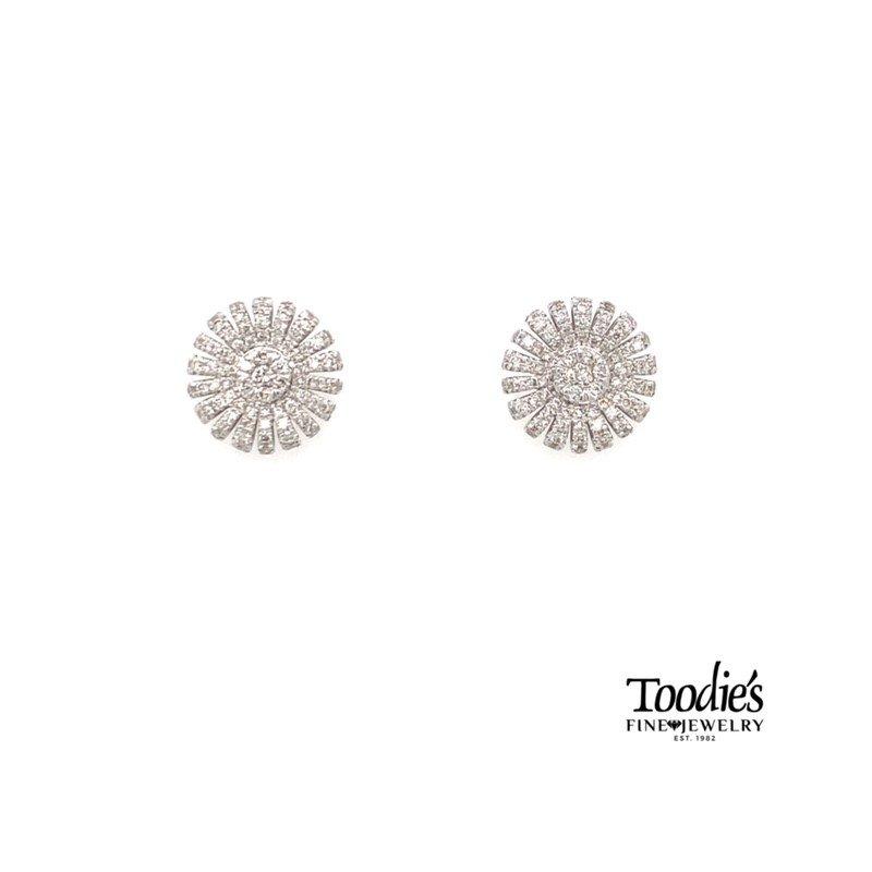 Gabriel Fashion Diamond Cluster Earrings