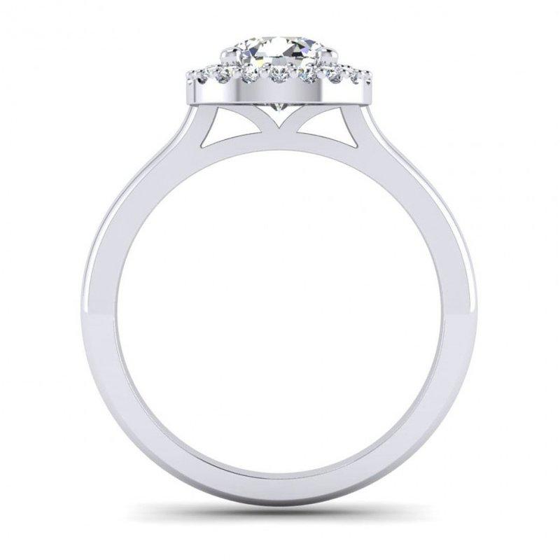 Toodie's Bridal Round Diamond Halo Top Engagement Ring