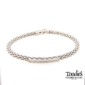 Popcorn Style Diamond Bar Bracelet