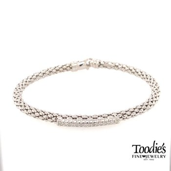 Popcorn Style Diamond Bar Bracelet