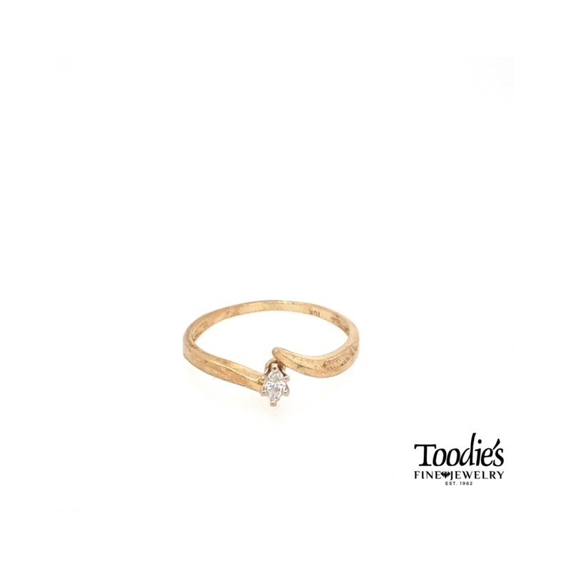 Toodie's Signature Fashion Vintage Marquise DiamondBypass Ring