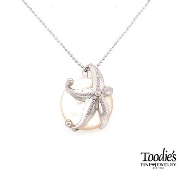 Starfish And Mother Of Pearl Pendant Necklace
