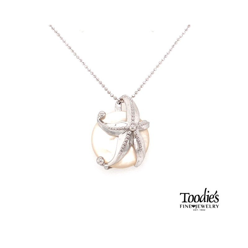 Penny James Jewelry Starfish And Mother Of Pearl Pendant Necklace