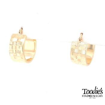 Checkerboard Style Hooped Earrings