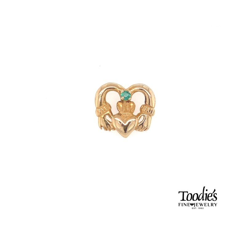 Toodie's Signature Fashion Yellow Gold Claddaugh Tie Tack