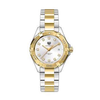 Ladies Aquaracer Two Tone Silver Dial Watch