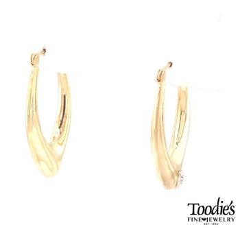 Pointed Oval Hooped Earrings