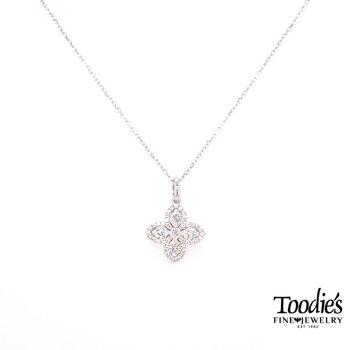Clover Design Diamond Pendant
