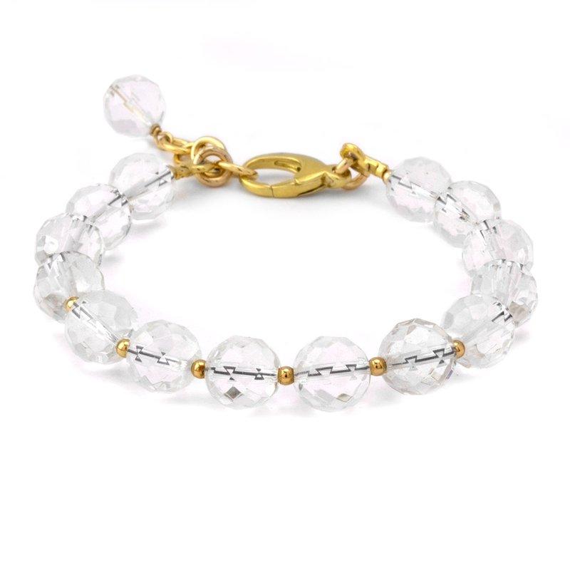 Elisa Ilana Faceted Quartz Crystal Bracelet
