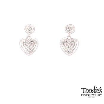 Heart Design Drop Earrings