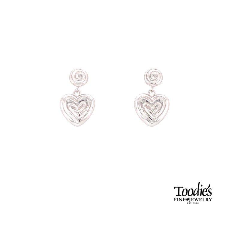 Charsinsky Designs Heart Design Drop Earrings