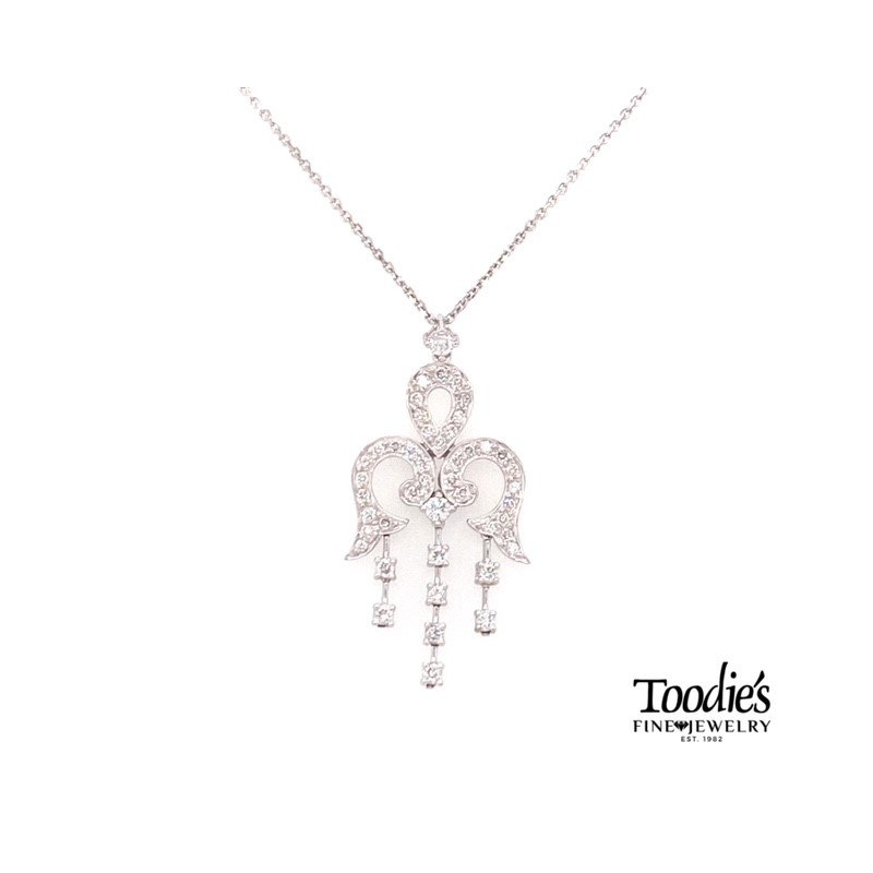 Toodie's Signature Fashion Diamond Angel Wing Pendant