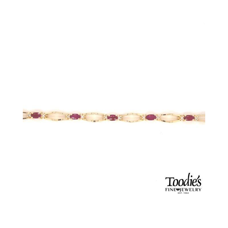 Toodie's Signature Fashion Ruby And Diamond Bracelet