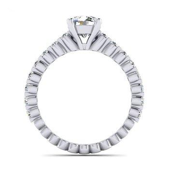 Floating Diamonds Style Engagement Ring