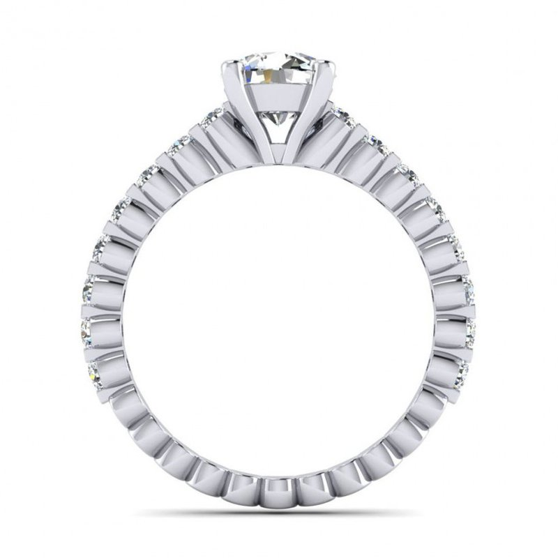 Toodie's Bridal Floating Diamonds Style Engagement Ring
