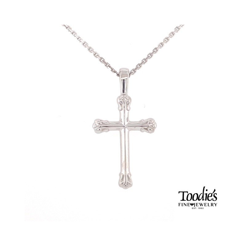 Toodie's Signature Fashion Angled Fine Detailed Cross Necklace